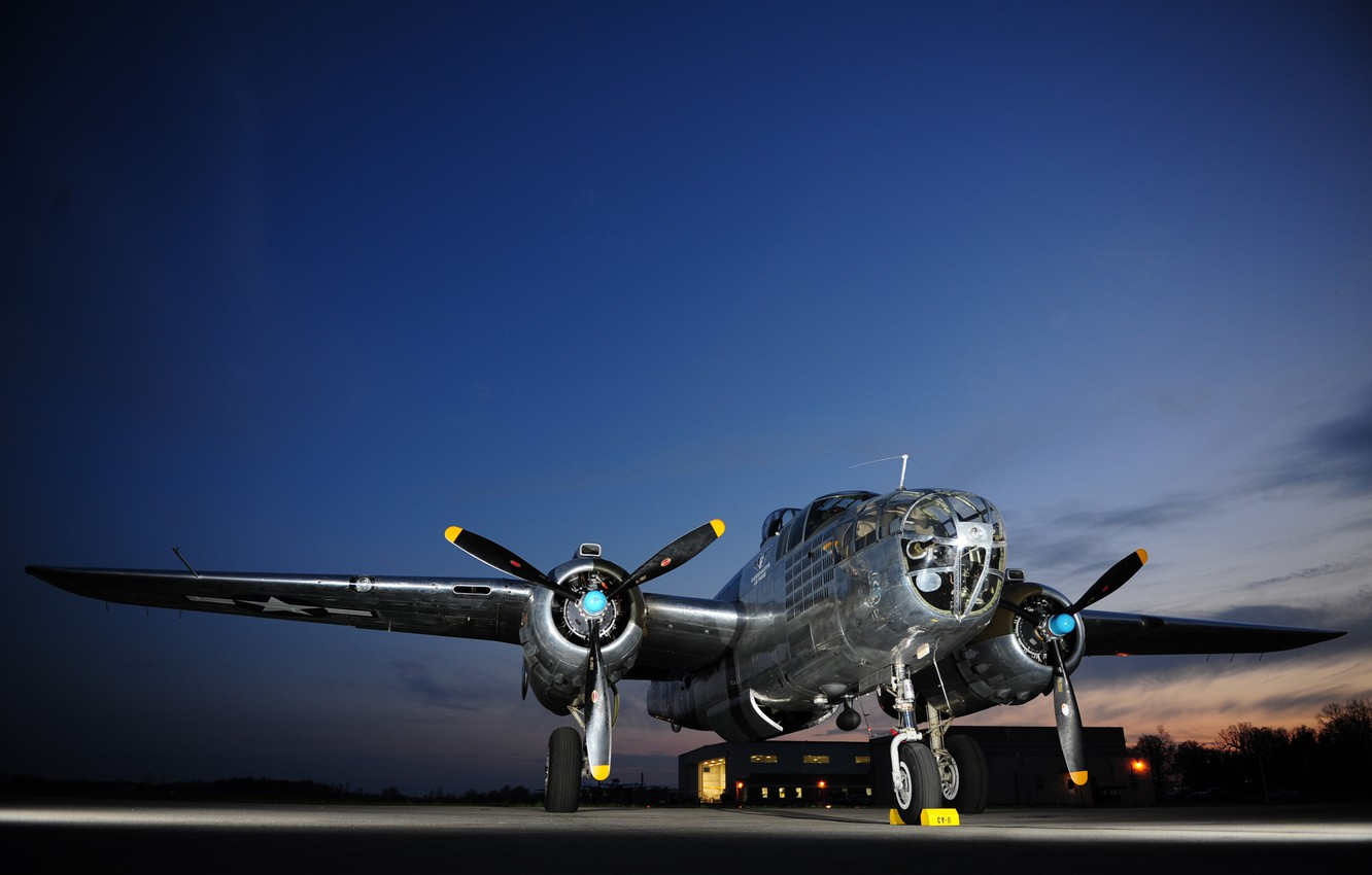 Wallpaper Bomber Usaf B 25j Mitchell Miss Mitchell Images For Desktop Section Aviaciya Download
