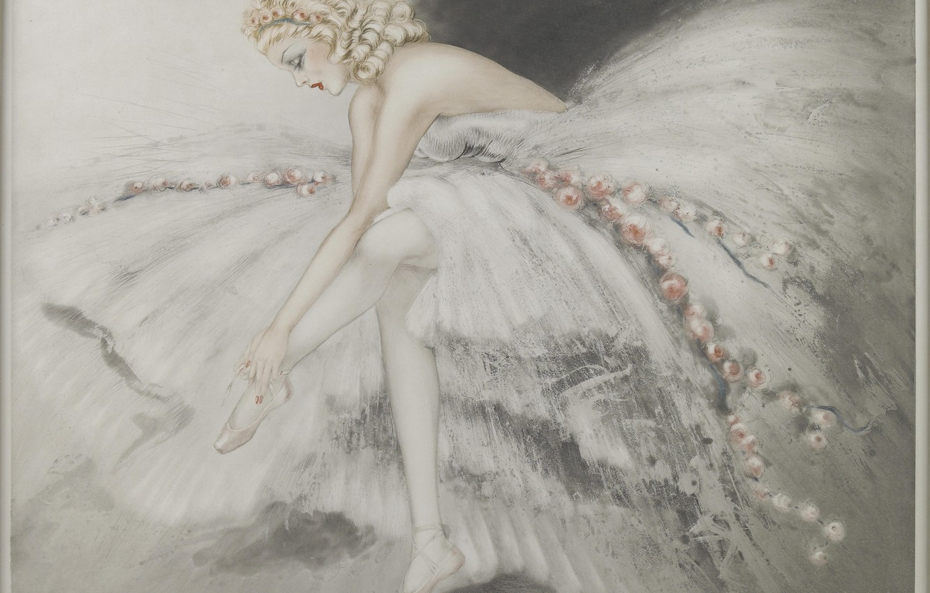Photo wallpaper 1939, Louis Icart, Excellent dancer