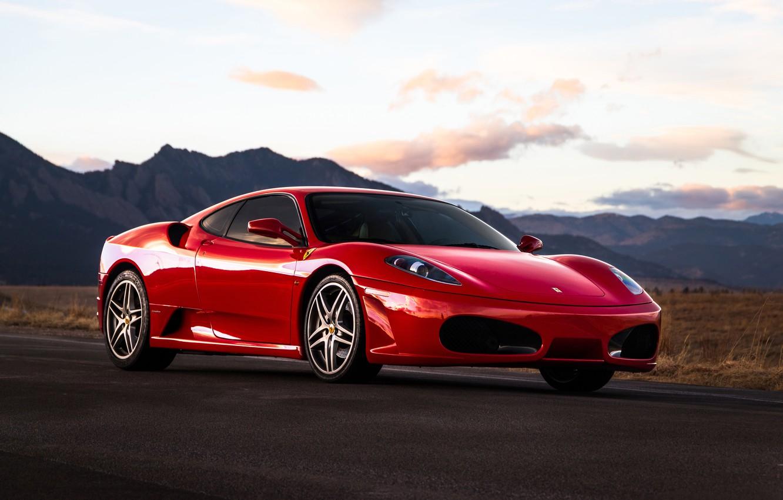 Photo wallpaper red, supercar, Ferrari F430, sports car