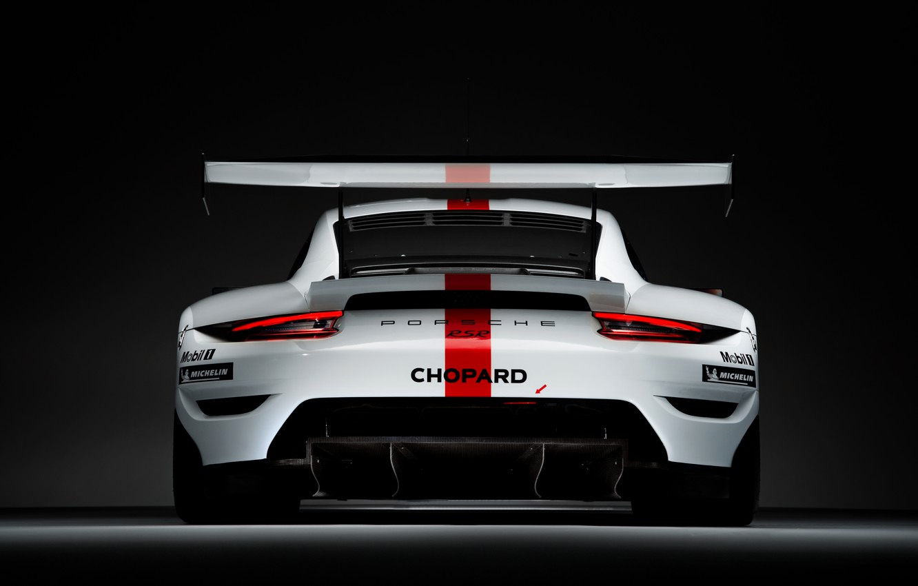 Photo wallpaper coupe, 911, Porsche, rear view, RSR, 2019