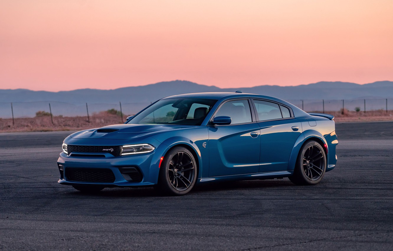 Photo wallpaper sunset, the evening, Dodge, Charger, Hellcat, SRT, Widebody, 2020