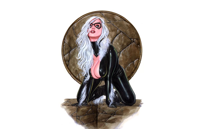 Photo wallpaper pose, comics, Catwoman