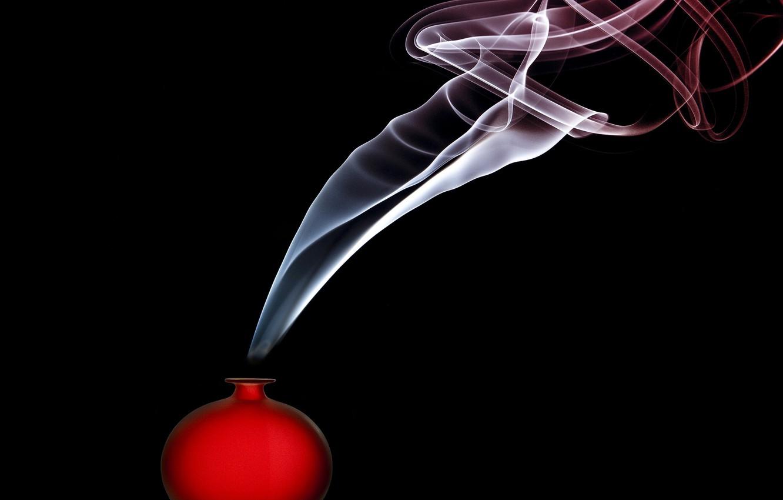 Photo wallpaper smoke, smoke, vessel, jar, Renee Doyle