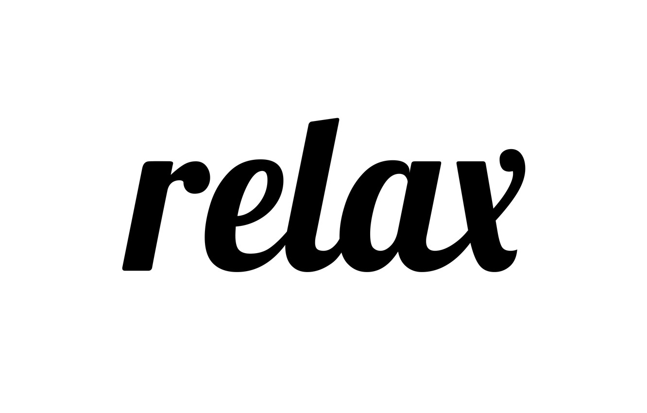 Photo wallpaper letters, relax, the word