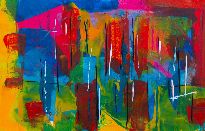 Photo wallpaper paint, texture, colorful, strokes, color texture