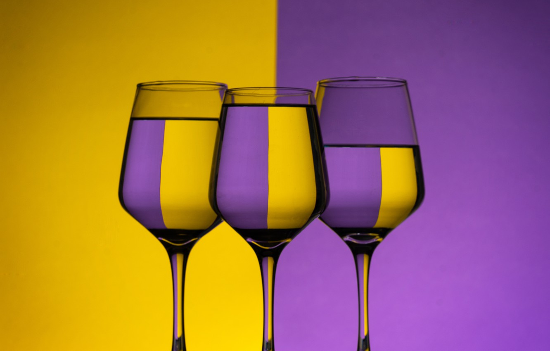 Photo wallpaper purple, style, yellow, glasses