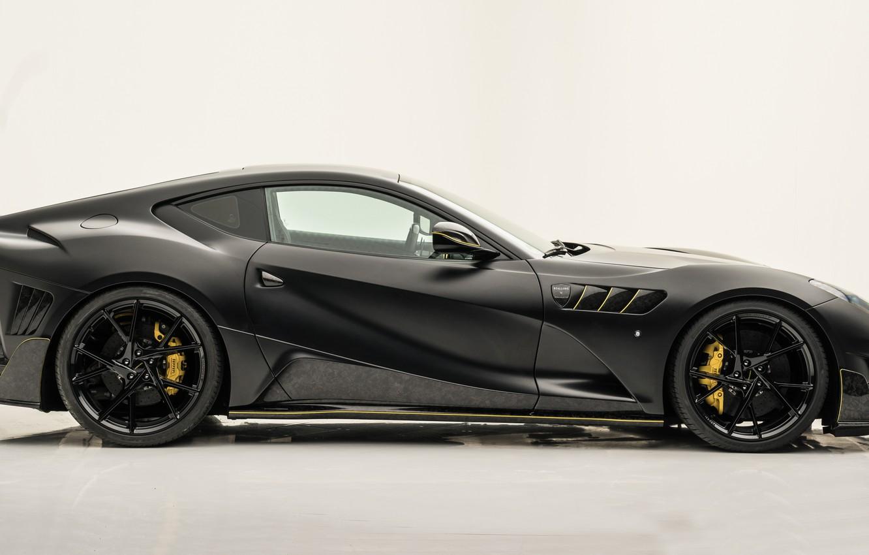 Photo wallpaper Ferrari, supercar, side view, Mansory, Superfast, 812, 2019, Stallone Black
