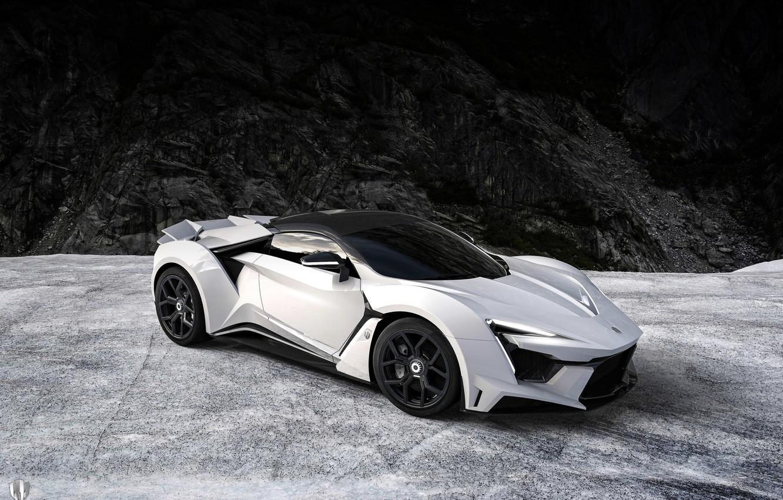 Photo wallpaper Auto, White, Rendering, Supercar, Concept Art, Sports car, SuperSport, Transport & Vehicles, Benoit Fraylon, by …
