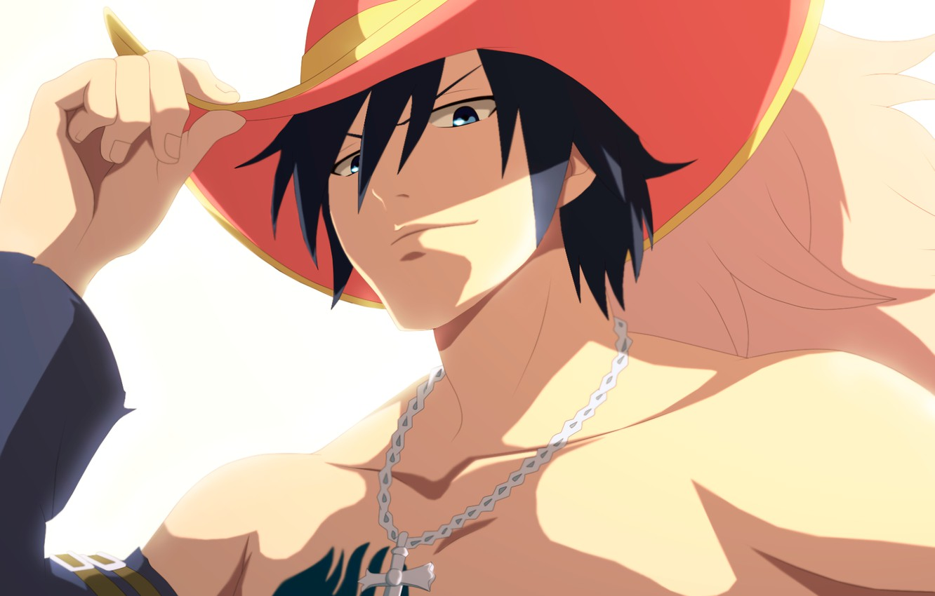 Photo wallpaper hat, guy, Fairy Tail, Grey Fullbuster, Fairy tail
