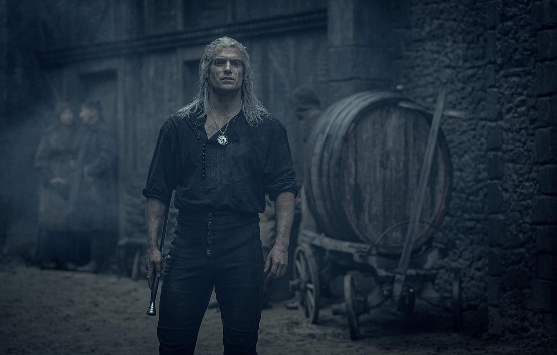 Photo wallpaper sword, the series, mutant, Geralt of Rivia, White Wolf, Henry Cavill, Henry Cavill, Netflix, series …