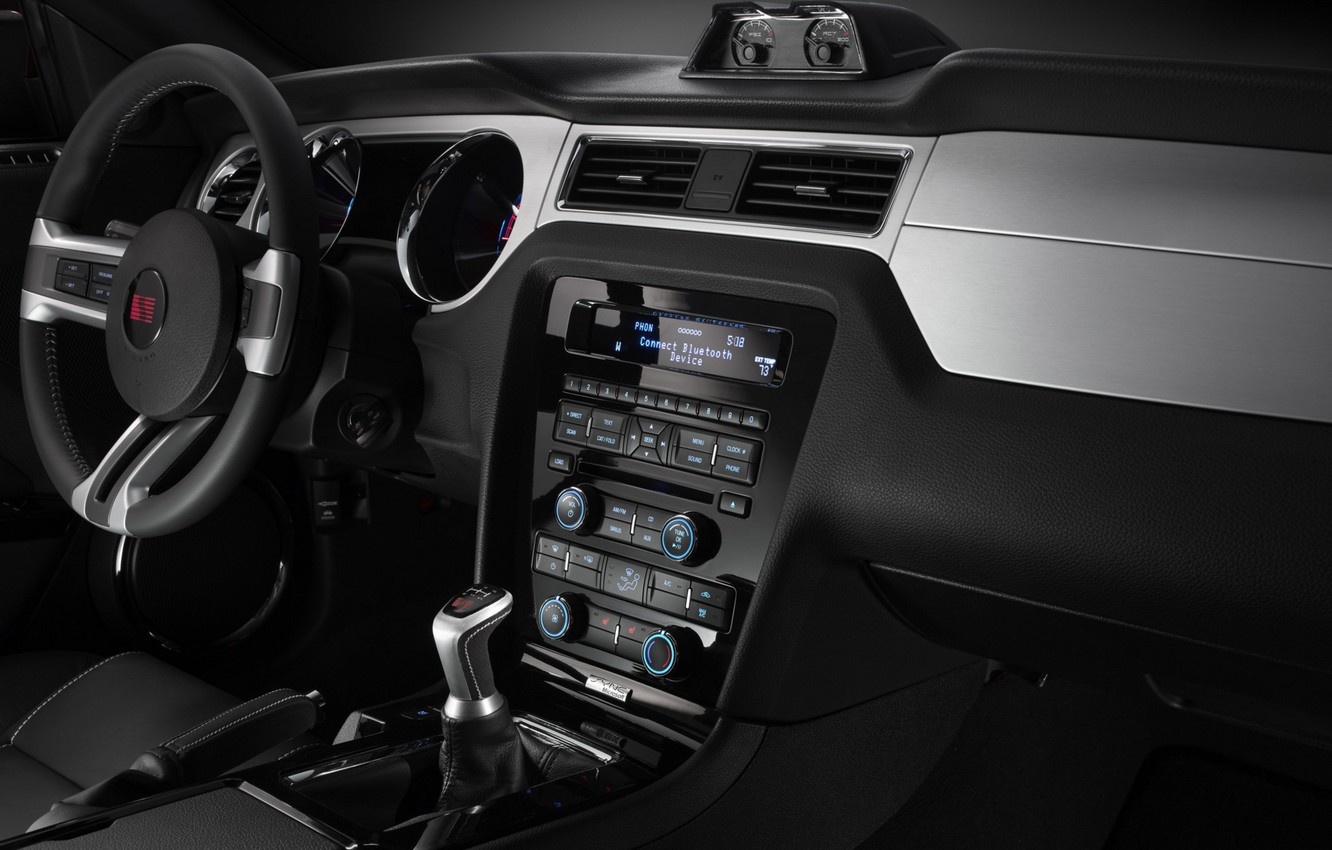 Photo wallpaper Mustang, Ford, Saleen, salon, 2009, dashboard, S281