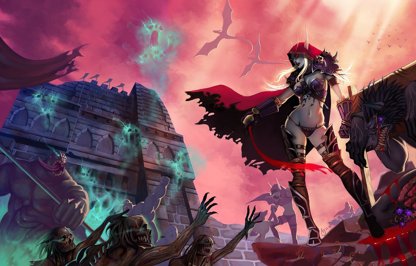 Wallpaper Girl World Of Warcraft Fantasy Game Undead
