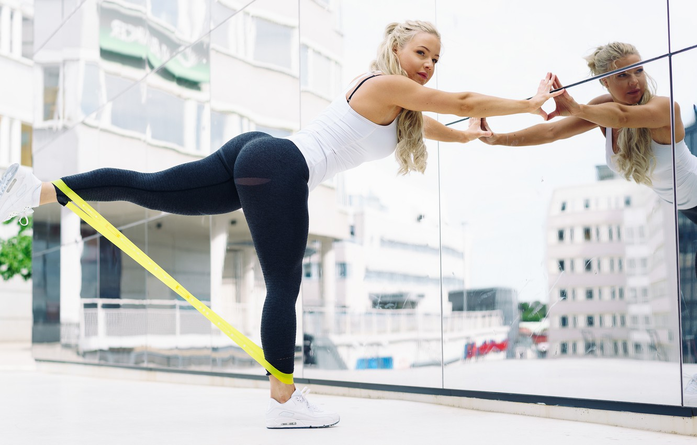 Photo wallpaper legs, street, blonde, workout, fitness