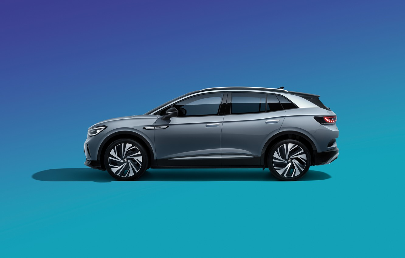 Photo wallpaper China, Volkswagen, side, 2020, CUV, ID.4 Crozz Prime