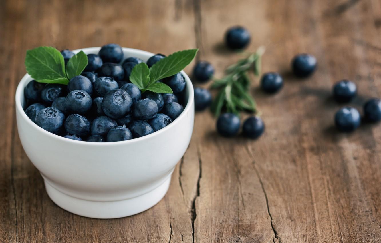 Photo wallpaper berries, blueberries, fresh, wood, blueberry, blueberries, berries