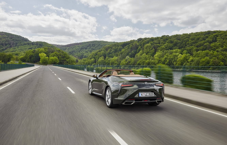 Photo wallpaper Lexus, back, convertible, 2021, LC 500 Convertible