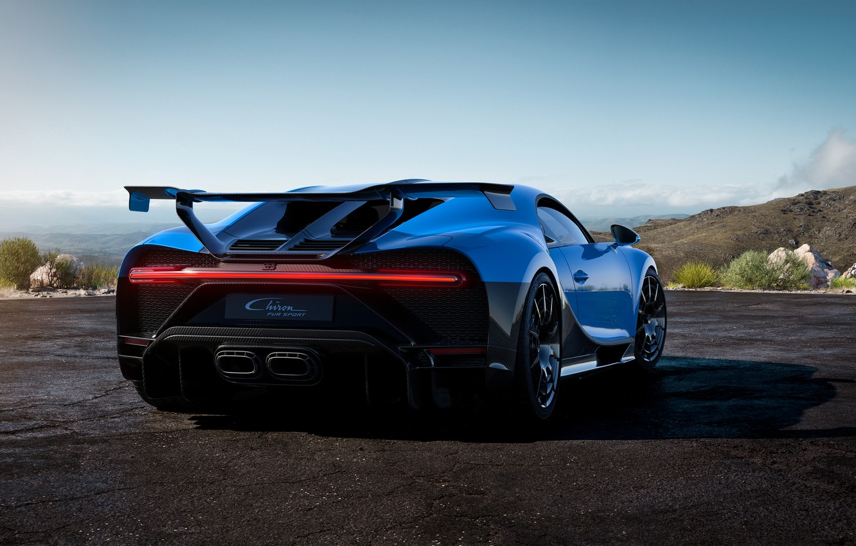 Photo wallpaper Bugatti, rear view, hypercar, Chiron, 2020, Pur Sport