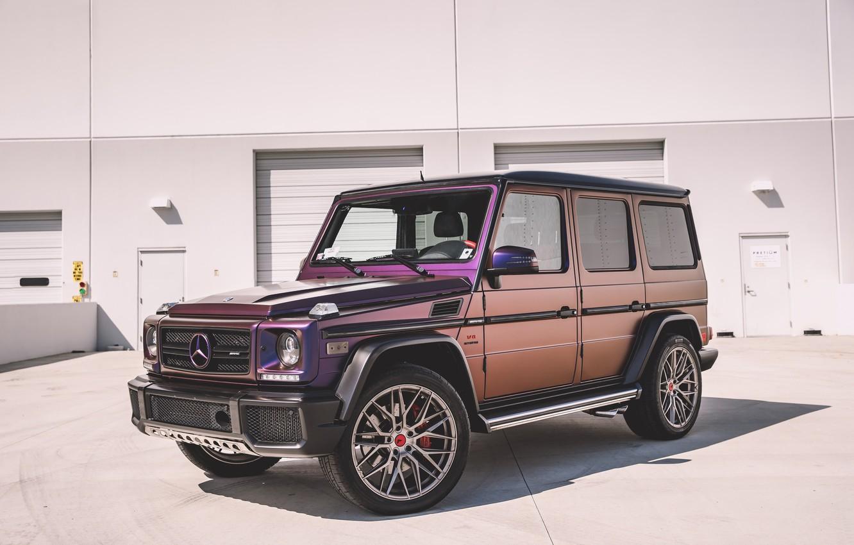 Photo wallpaper Mercedes, Purple, AMG, G63, W463, G-class
