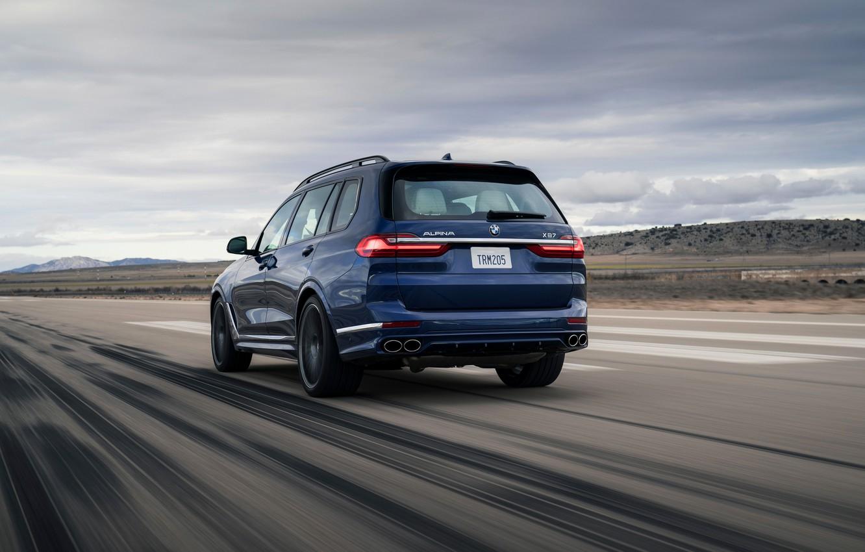 Photo wallpaper road, BMW, crossover, SUV, Alpina, 2020, BMW X7, X7, G07, XB7