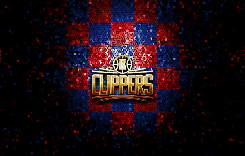 Wallpaper Wallpaper Sport Logo Basketball Nba Los Angeles Clippers Glitter Checkered Images For Desktop Section Sport Download