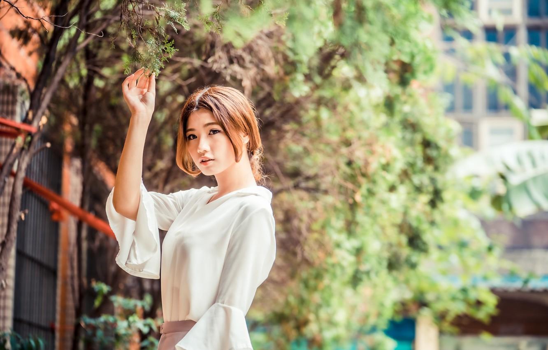 Photo wallpaper summer, girl, Asian