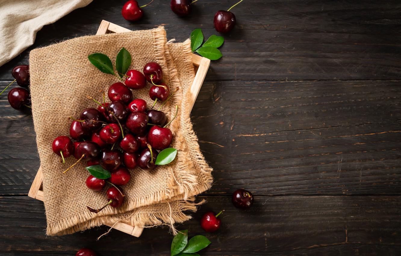 Photo wallpaper cherry, box, fruit