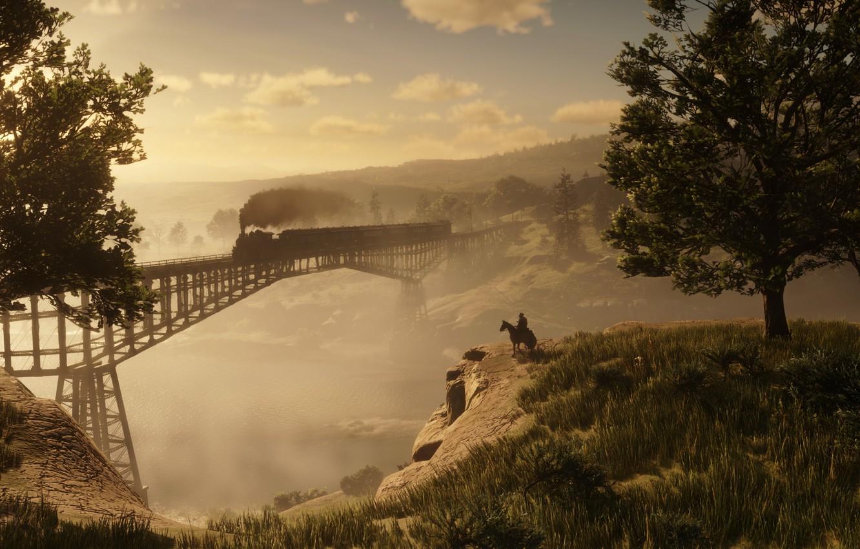 Photo wallpaper Game, Rockstar Games, Red Dead Redemption 2, Gang, RDR