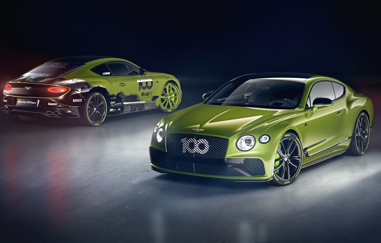 Photo wallpaper Bentley, pair, Continental GT, Limited Edition, Pikes Peak, 2020