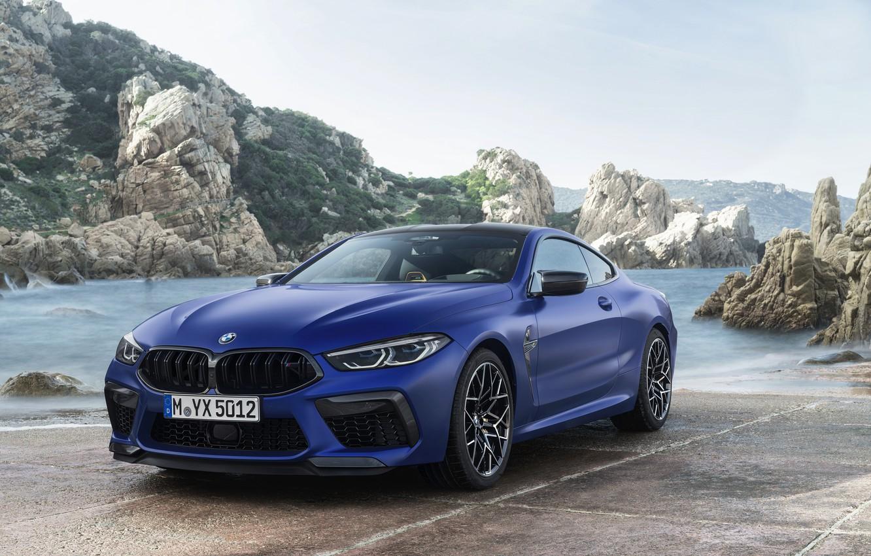 Photo wallpaper shore, coupe, BMW, Parking, 2019, BMW M8, M8, M8 Competition Coupe, M8 Coupe, F92