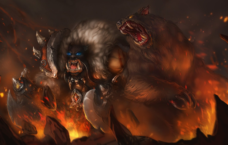 Wallpaper Figure The Game Misha Blizzard Art Orc Fiction