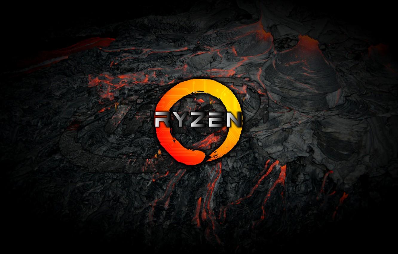Photo wallpaper grey, background, black, logo, AMD, dark, magma, Corn, Ryazan, Ryzen, RYZEN, Ryazhenka