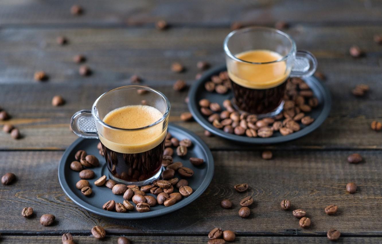Photo wallpaper coffee, Cup, wood, coffee beans, coffee, coffee beans