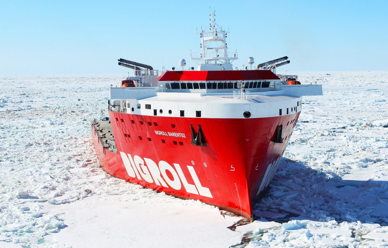 Photo wallpaper Winter, Ice, The ship, Nose, Tank, Offshore, Offshore Supply Ship, by Pixabay, Pixabay, BigRoll, M/V …