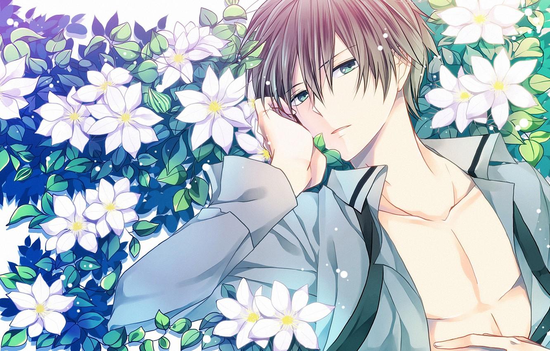 Wallpaper Flowers Anime Art Guy Mahou Giving Koukou No