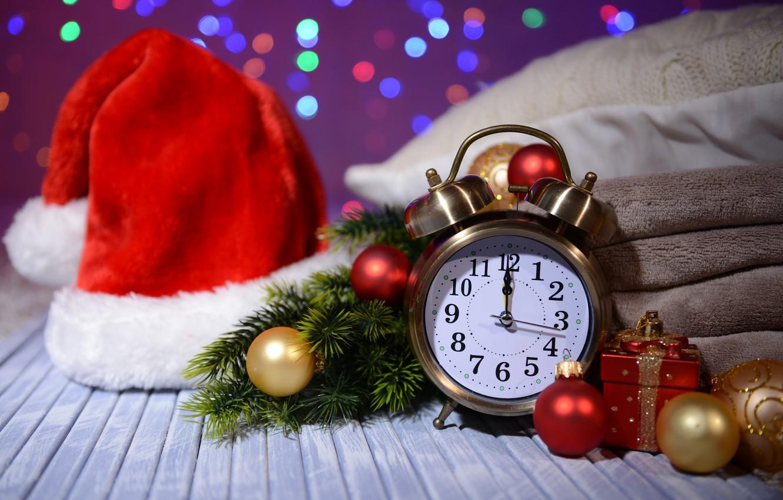 Photo wallpaper watch, Christmas, New year