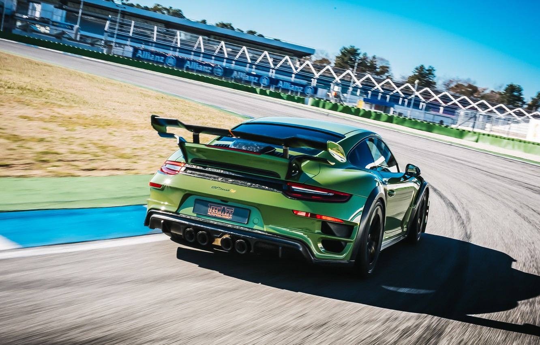 Photo wallpaper speed, 911, Porsche, rear view, Turbo S, TechArt, 2019, GT Street RS