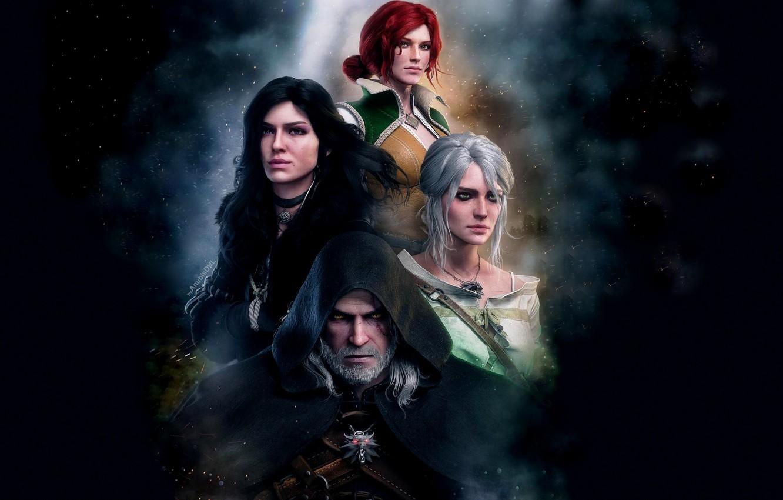 Photo wallpaper Geralt, Ian, Triss Merigold, Geralt of Rivia, Triss Merigold, White Wolf, The Witcher 3 Wild …