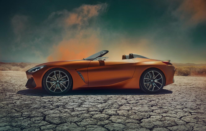 Photo wallpaper BMW, Roadster, side view, 2017, Z4 Concept