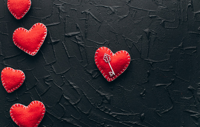 Photo wallpaper love, heart, red, love, key, romantic, hearts, valentine's day, gift
