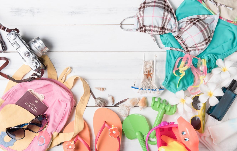 Photo wallpaper beach, stay, Sea, accessories