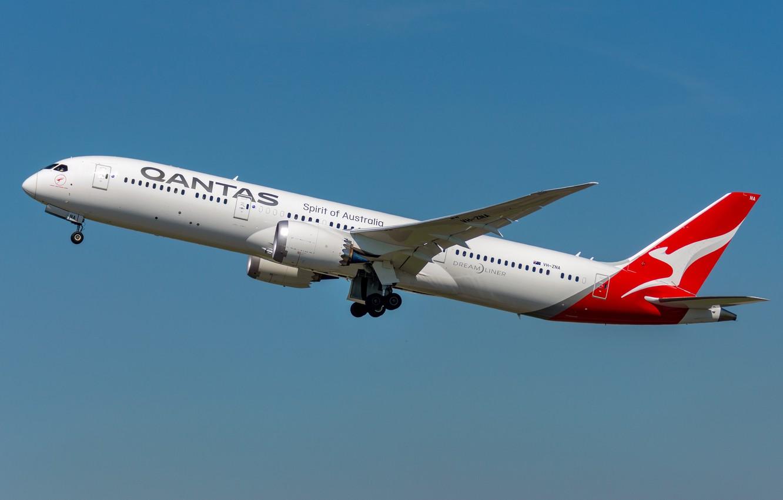 Photo wallpaper Boeing, Qantas, 787-9
