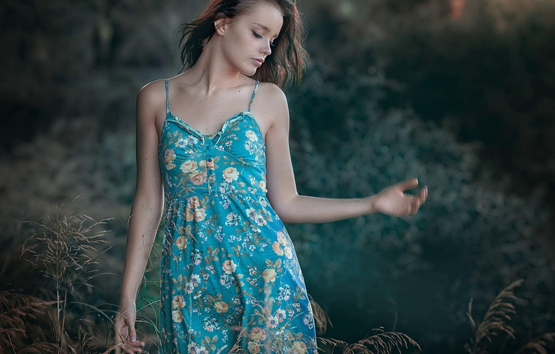Photo wallpaper summer, girl, background, J.A. Roman