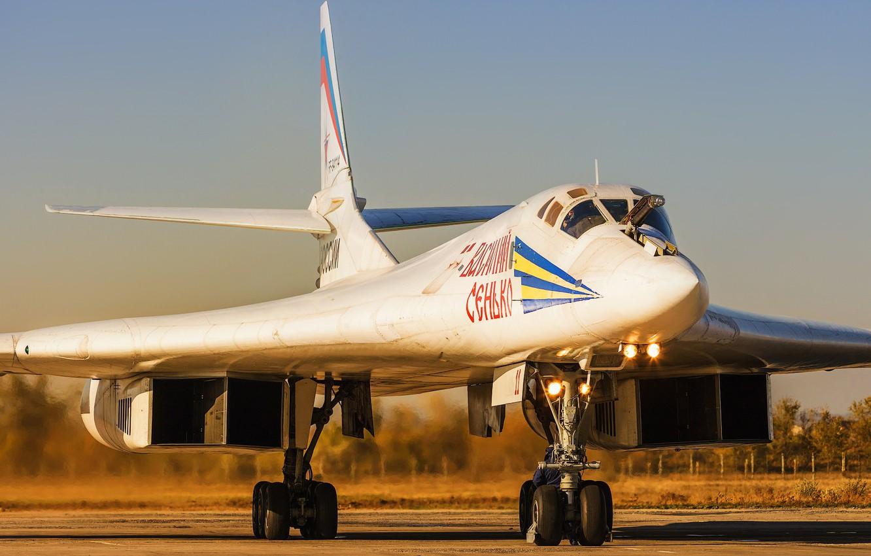Photo wallpaper Swan, The plane, USSR, Russia, Aviation, BBC, Bomber, Tupolev, Tu 160, The plane, The Tu-160, ...