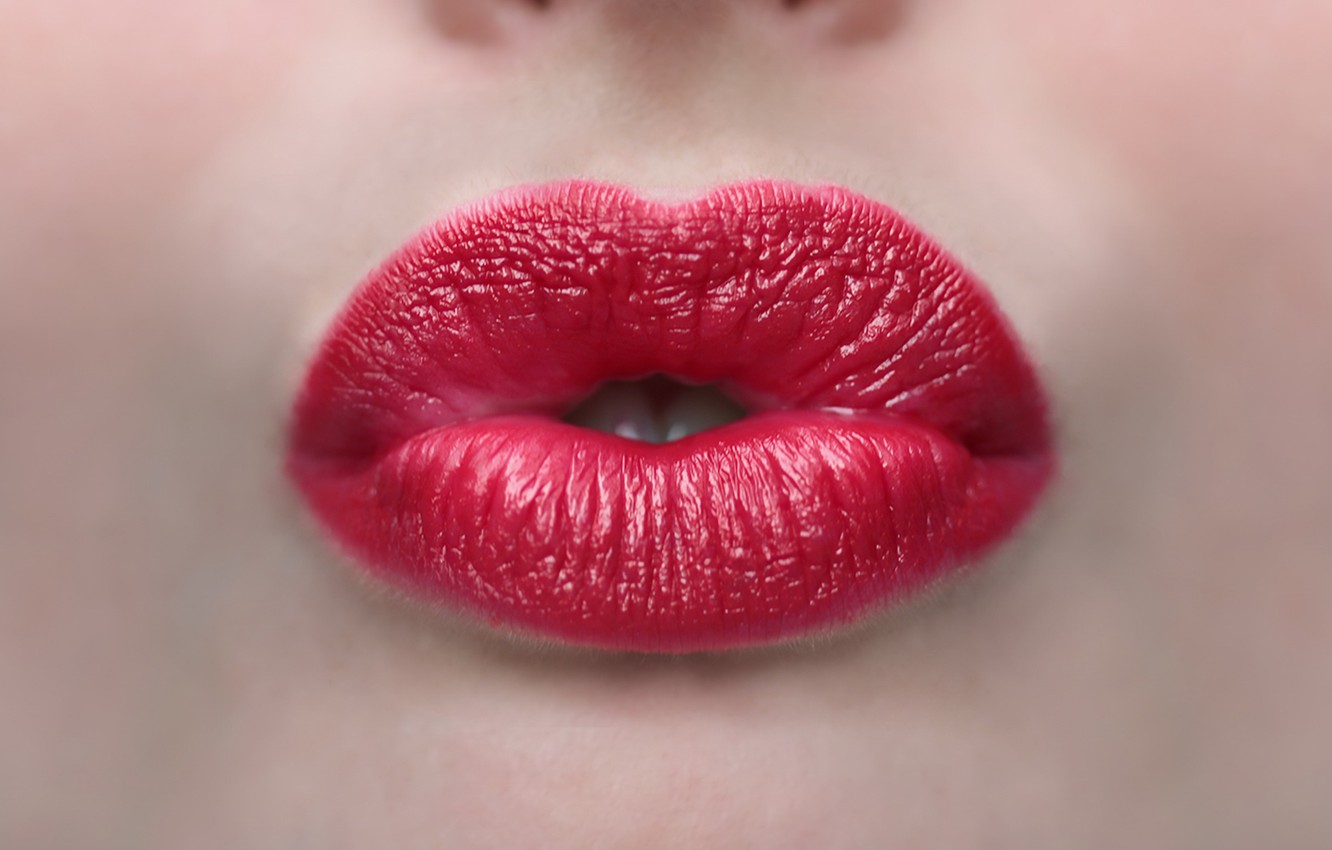 Photo wallpaper face background lips