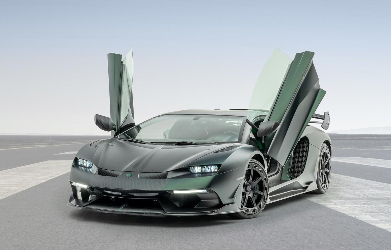 Photo wallpaper Lamborghini, door, supercar, Aventador, Mansory, 2020, SVJ, Cabrera