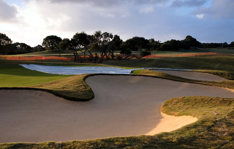 Photo wallpaper field, sport, Golf
