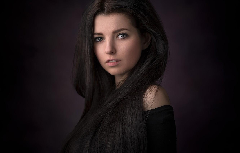 Photo wallpaper look, girl, face, background, portrait, long hair, Eugene Fry
