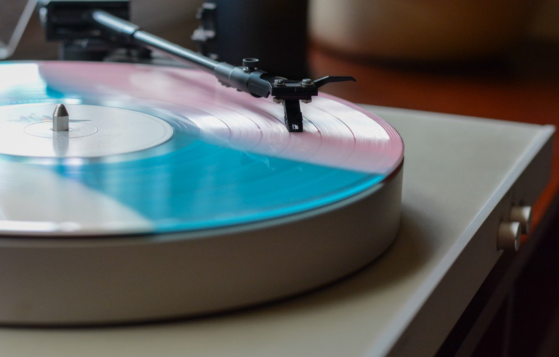 Photo wallpaper player, vinyl, record
