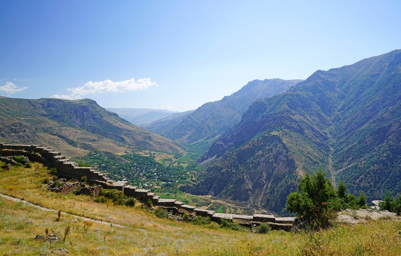 Photo wallpaper Mountains, Grass, Ladder, Landscape, Armenia