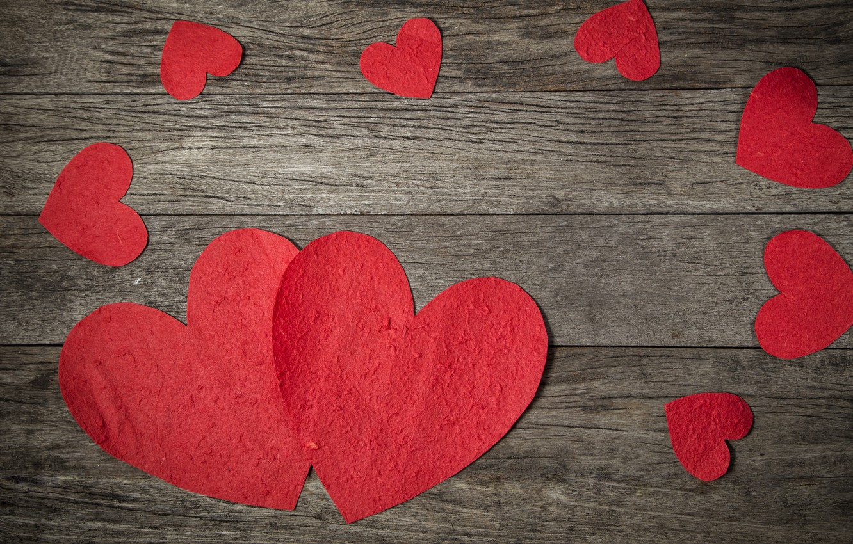 Photo wallpaper love, heart, red, love, wood, romantic, hearts